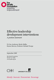 Effective leadership development interventions: a position statement