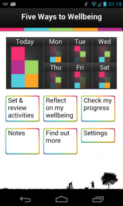 Five Ways to Wellbeing app