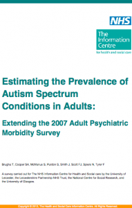 Estimating the prevalence of autism spectrum conditions in adults