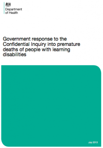 Response to the Confidential Inquiry into learning disability