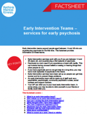 Early intervention teams for early psychosis