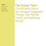 The Esteem Team Co-ordinated care in the Sandwell Integrated Primary Care Mental Health and Wellbeing Service