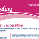 Equally accessible? Making mental health services more accessible for learning disabled or autistic people