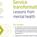 Service transformation: Lessons from mental health