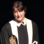 The late Professor Helen Lester giving her 2012 James Mackenzie Lecture to the RCGP