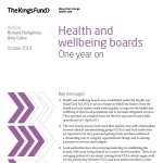 Health and wellbeing boards: One year on