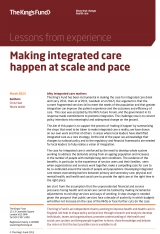 Making integrated care happen at scale and pace