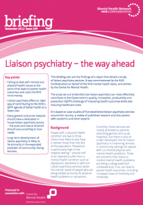 Liaison psychiatry - the way ahead