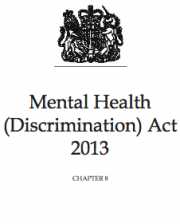 Mental Health (Discrimination) Act 2013