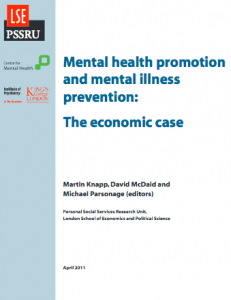 Mental health promotion and mental illness prevention: The economic case