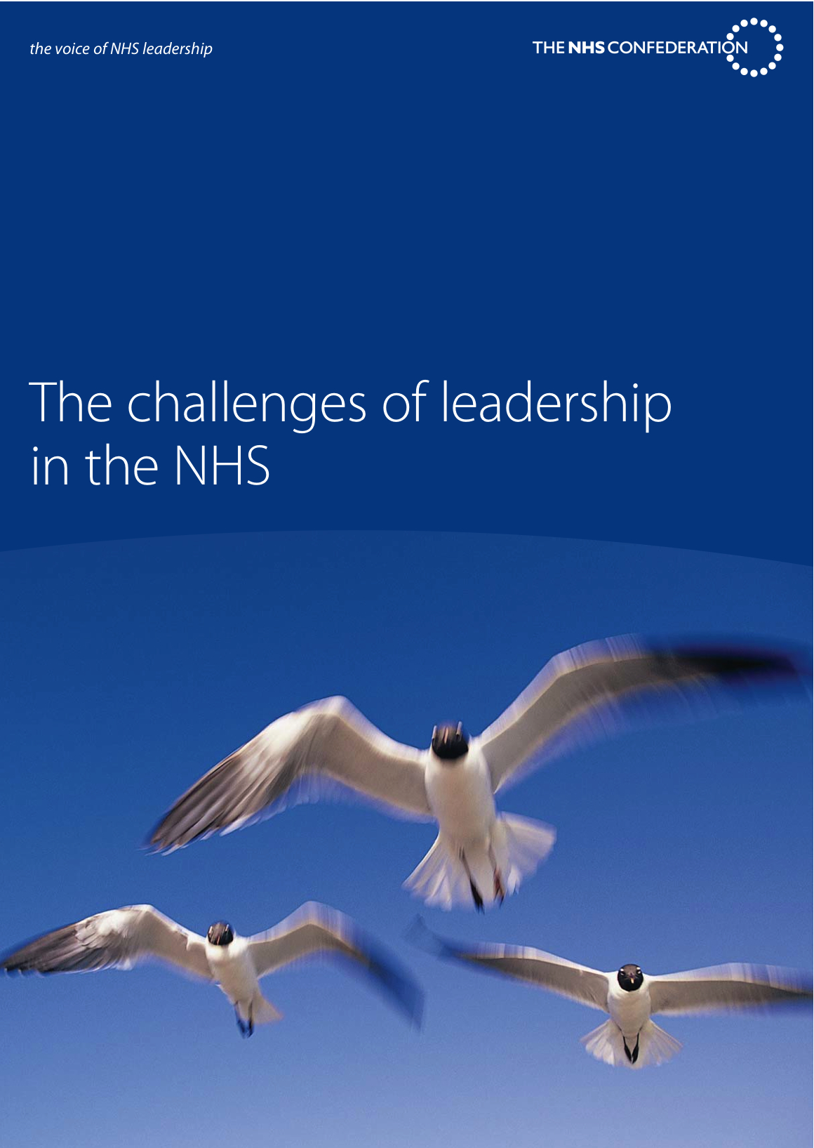 The challenges of leadership in the NHS""