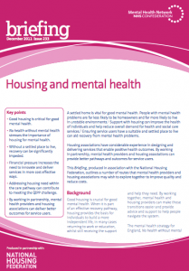 Housing and mental health