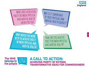 Parity of esteem: transformative ideas for commissioners