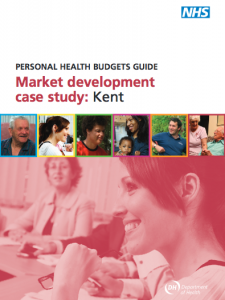 Personal health budgets guide: Kent market development case study