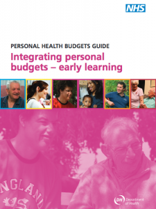 Integrating personal budgets - early learning