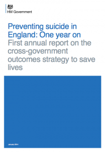 Preventing suicide in England: one year on