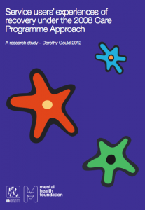 Service users' experiences of recovery under the 2008 Care Programme Approach