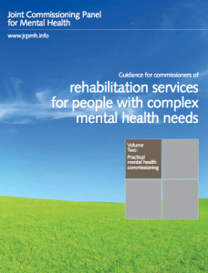 Guidance for commissioners of rehabilitation services for people with complex mental health needs