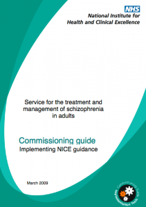 Service for the treatment and management of schizophrenia in adults commissioning guide