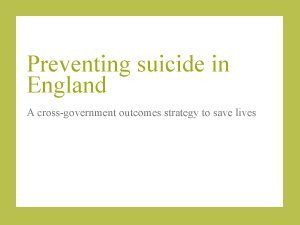 suicide prevention strategy