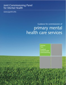 Guidance for commissioners of primary mental health services, Volume 2