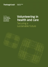 Volunteering in health and care: Securing a sustainable future