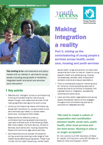Joining up the commissioning of young people's services